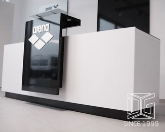 SC06 High End Brand Shop Counter Design With Logo