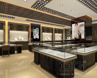 JE18 New Design Jewelry Store Decoration-Jewelry display cabinet