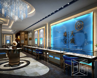 JE08 Fashion Fabulous Jewelry Store Design with glass display cabinet