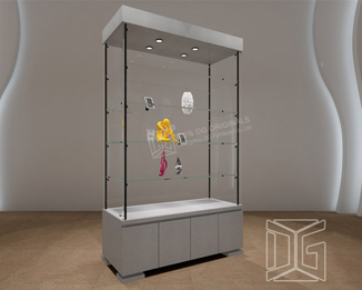 MD03 Laminated Glass Museum Pedestal Display Cases
