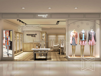 CL02 Fashion Clothing Store Interior Design