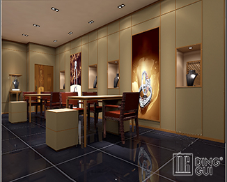 JE168 Luxury and Fashion Retail Jewelry Shop Interior Design
