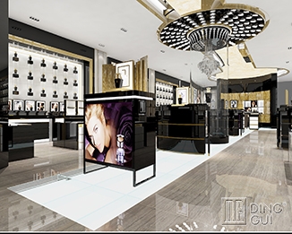 PE40 Professional Luxury High Grade Commercial Perfume Retail Shop Interior Design