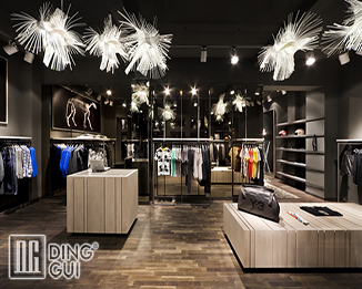 CL76 Professional Innovative Attractive Luxury Men's Clothing Shop Interior Design