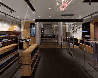 CL79 Profesional Business Style Brand Design Retail Clothing Store Furniture