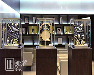 WA76 Professional Craft Simple Customized High Quality Glass Led Watch Display Cabinet
