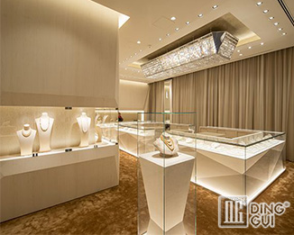 JE170 High end luxury jewelry store design showcase equipment