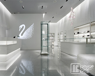 JE174 High End Luxury Display Fixture For Retail Jewellery Shop Interior Designs
