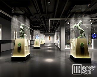 MD35 Professional design high end modern museum glass display units