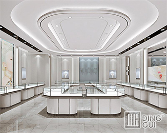 JE 180 High-end classic jewelry store interior display case design ideas