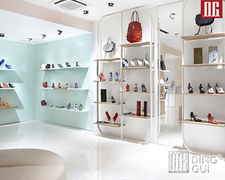 SH 32 High end luxury shoes store display case design