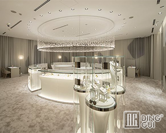 JE 181 Professional custom high end jewelry store display showcase furniture