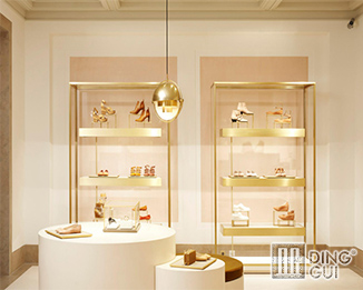 SH 33 Creative design high end shoe store display case fitting