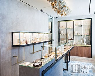 JE 182 17 Years professional custom high end fashion jewelry shop display counter