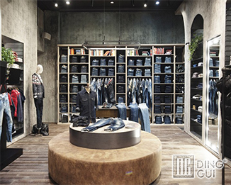 CL89 Custom Design High End Clothing Shop Display Fitouts