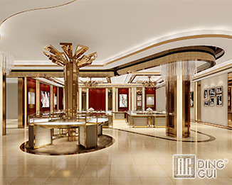 JE188 Profession Custom High End Jewelry Shop Display Showcase Fitouts