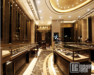 JE11 High End Luxury Antique Jewelry Shop Display Showcase