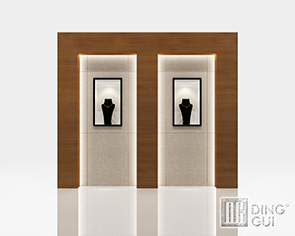 JE15 High End Luxury Jewellry Wall Display Showcase Furniture