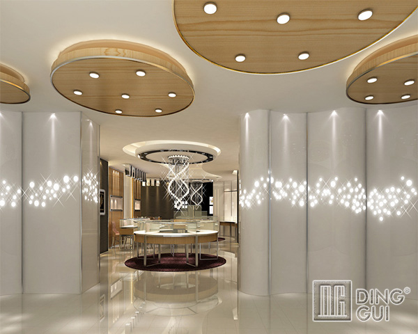 JE23 Modern High End Jewellry Shop Display Showcase Furniture Design