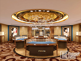 JE27 Custom Design High End Luxury Jewellry Display Showcase Furniture