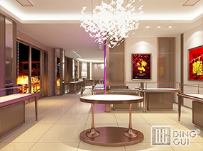 JE40 Custom Design High End Jewelry Shop Display Showcase Furniture Design