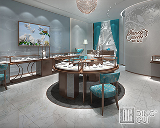 JE52 Custom Design High End Luxury Jewellry Store Display Showcase Furniture